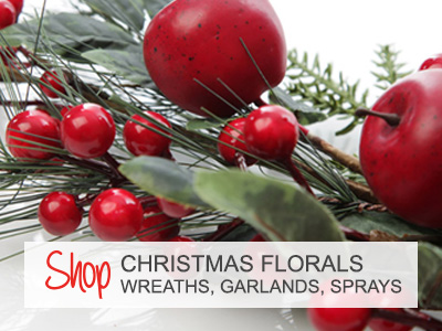 Shop Christmas Florals - Wreaths Trees and Garlands