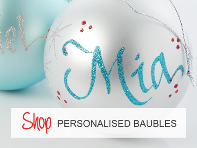 Shop Personalised Baubles