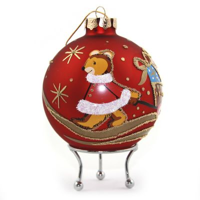 Red Christmas Mouse Christmas Bauble