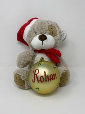 """Toggles 8"""" Plush Teddy and 10cm bauble pack"""