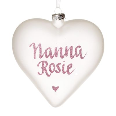 Frosted Glass Heart One Colour Glitter