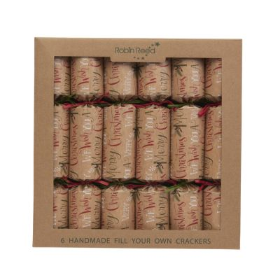 Fill Your Own Christmas Crackers Set of 6