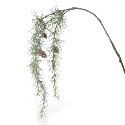 Frosted Pine with Pinecones Hanging Spray