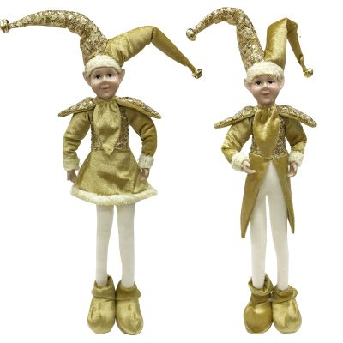 Gold Elf Standing Christmas Ornament