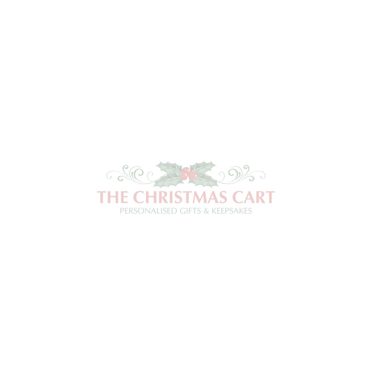 Bright Blue Christmas Bear with Tree