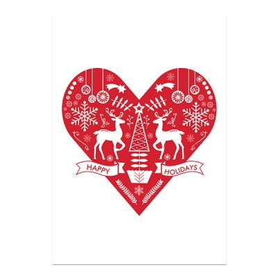 Red Glitter Merry Christmas Plaque