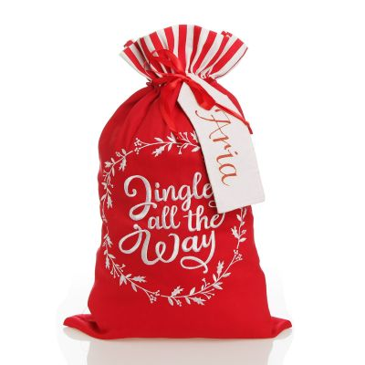 Personalised 'Jingle All The Way' Santa Sack