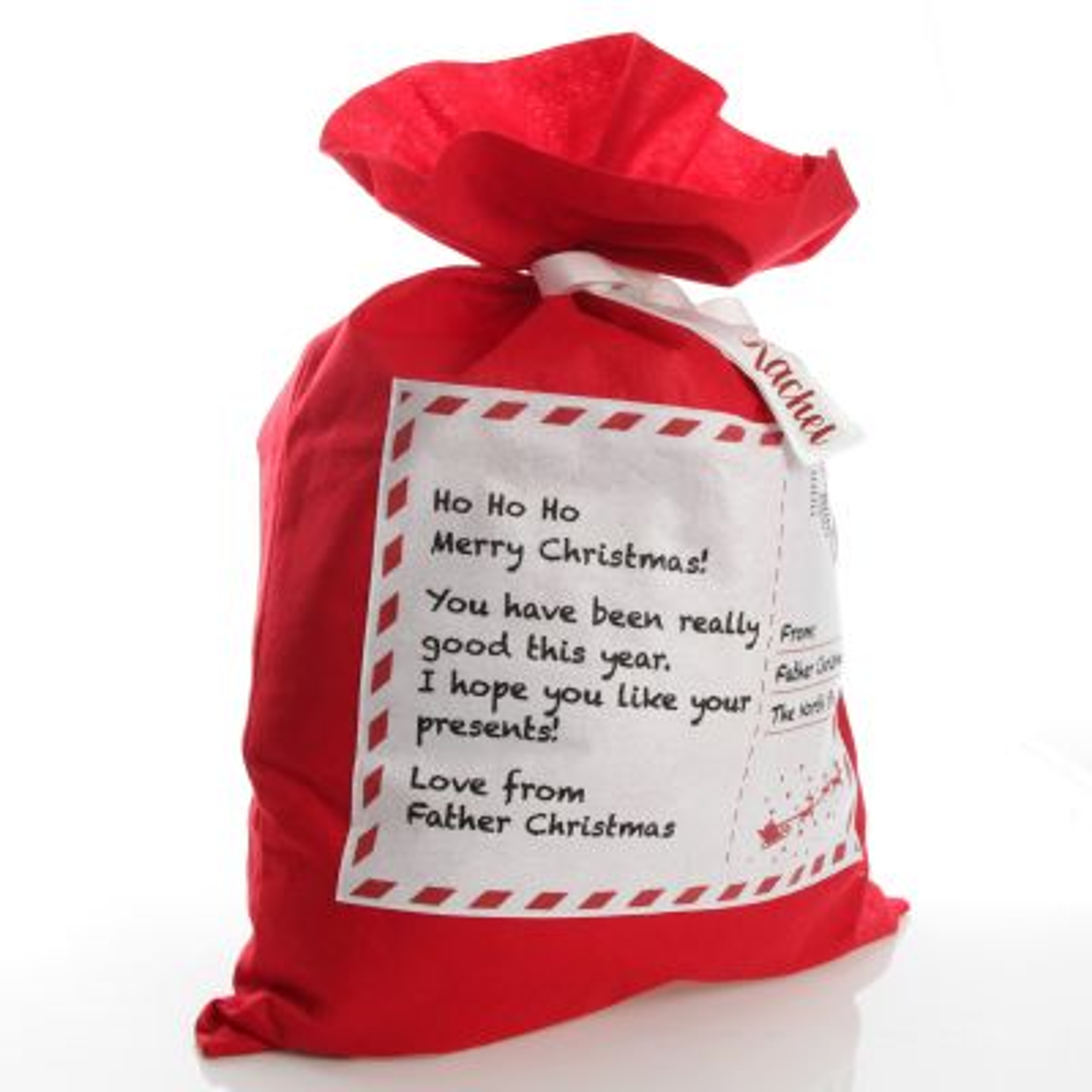 Personalised Letter to Santa Red Felt Jumbo Sack