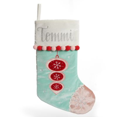 Personalised Peppermint Bauble Christmas Stocking
