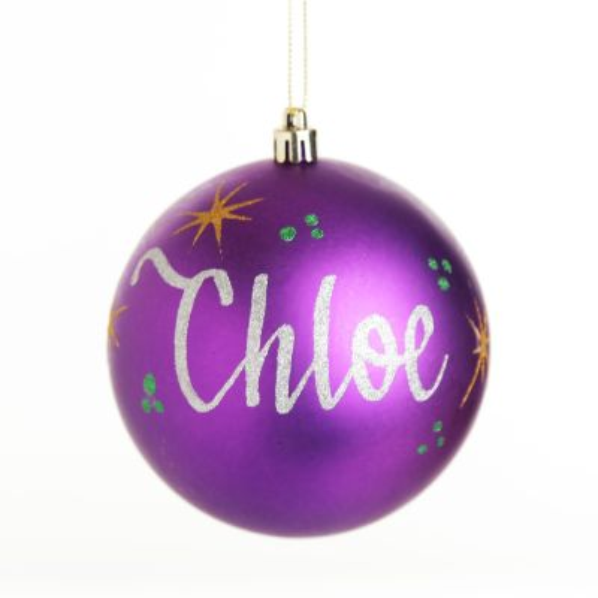 Personalised Purple Christmas Bauble Decoration