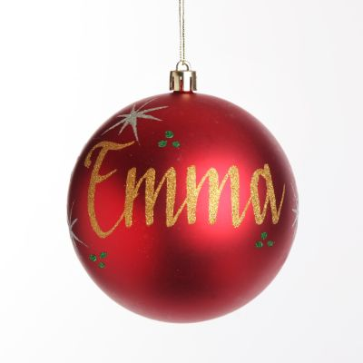 Red Christmas Bauble Ornament Decoration
