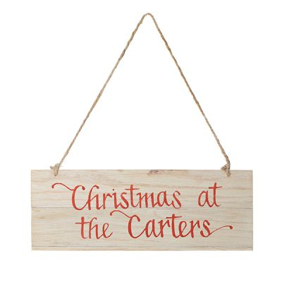 Personalised Christmas Wood Plaque