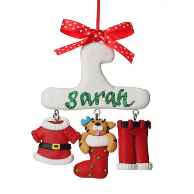 Personalised Cat Charm Christmas Decoration whole product