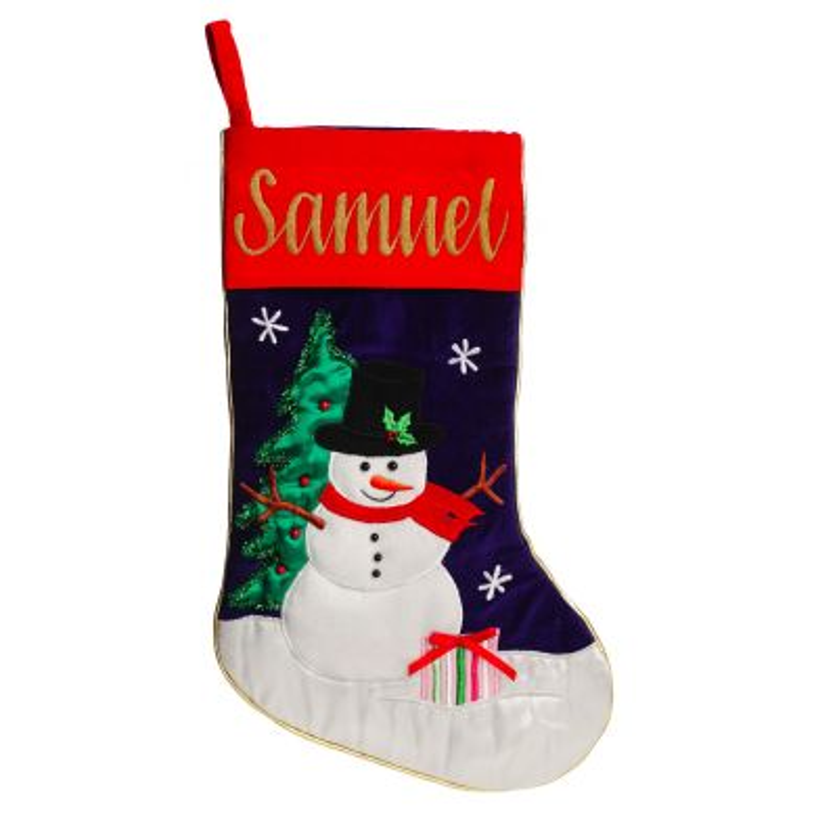 Personalised Snowman Christmas Stocking