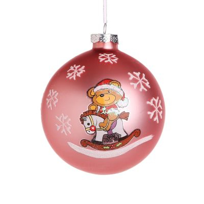 Pink Rocking Horse Christmas Bauble Whole product