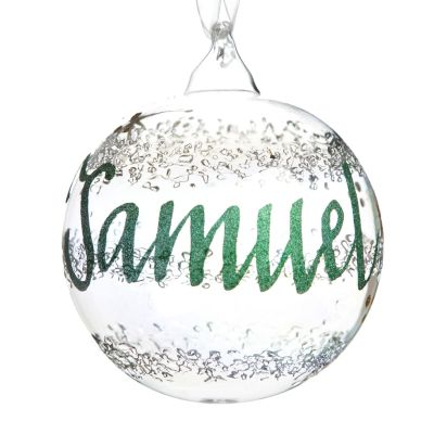 Rainbow Glass Personalised Christmas Bauble Whole product
