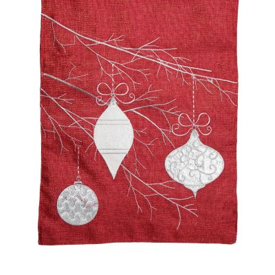 Red Bauble Christmas Table Runner