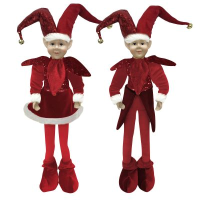 Red Elf Standing Christmas Ornament