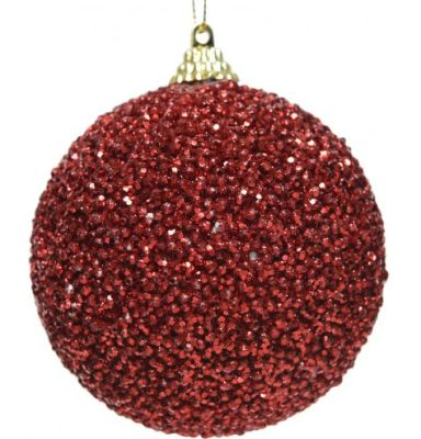 Ruby Red Sequin Foam Bauble