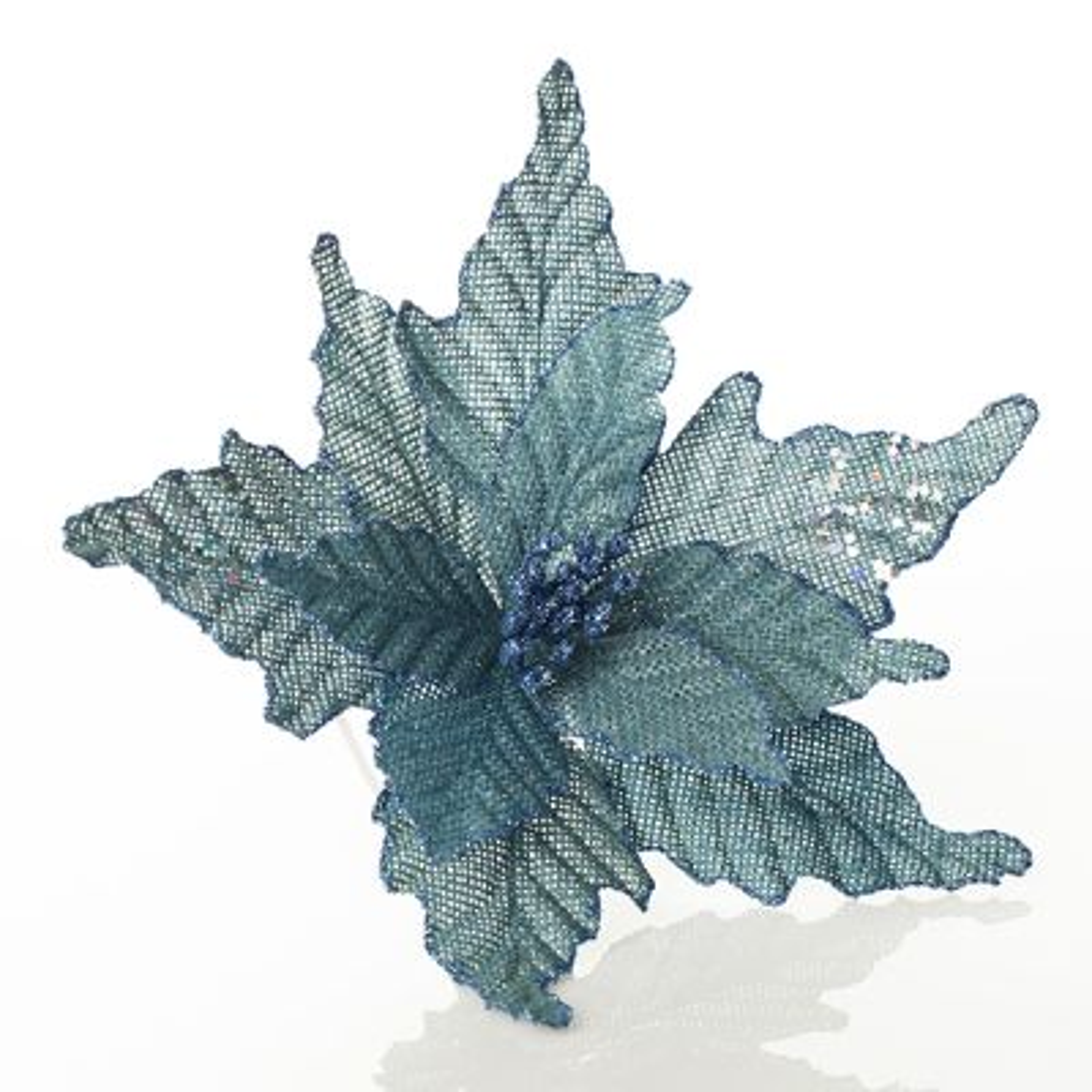 Seafoam Blue Burlap Flower
