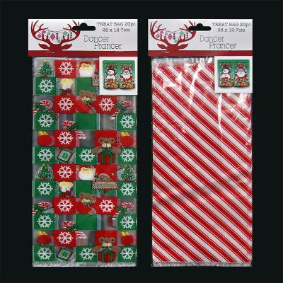 2 Assorted Christmas Tissue Paper - Plain Red and Floral - 8 Pack
