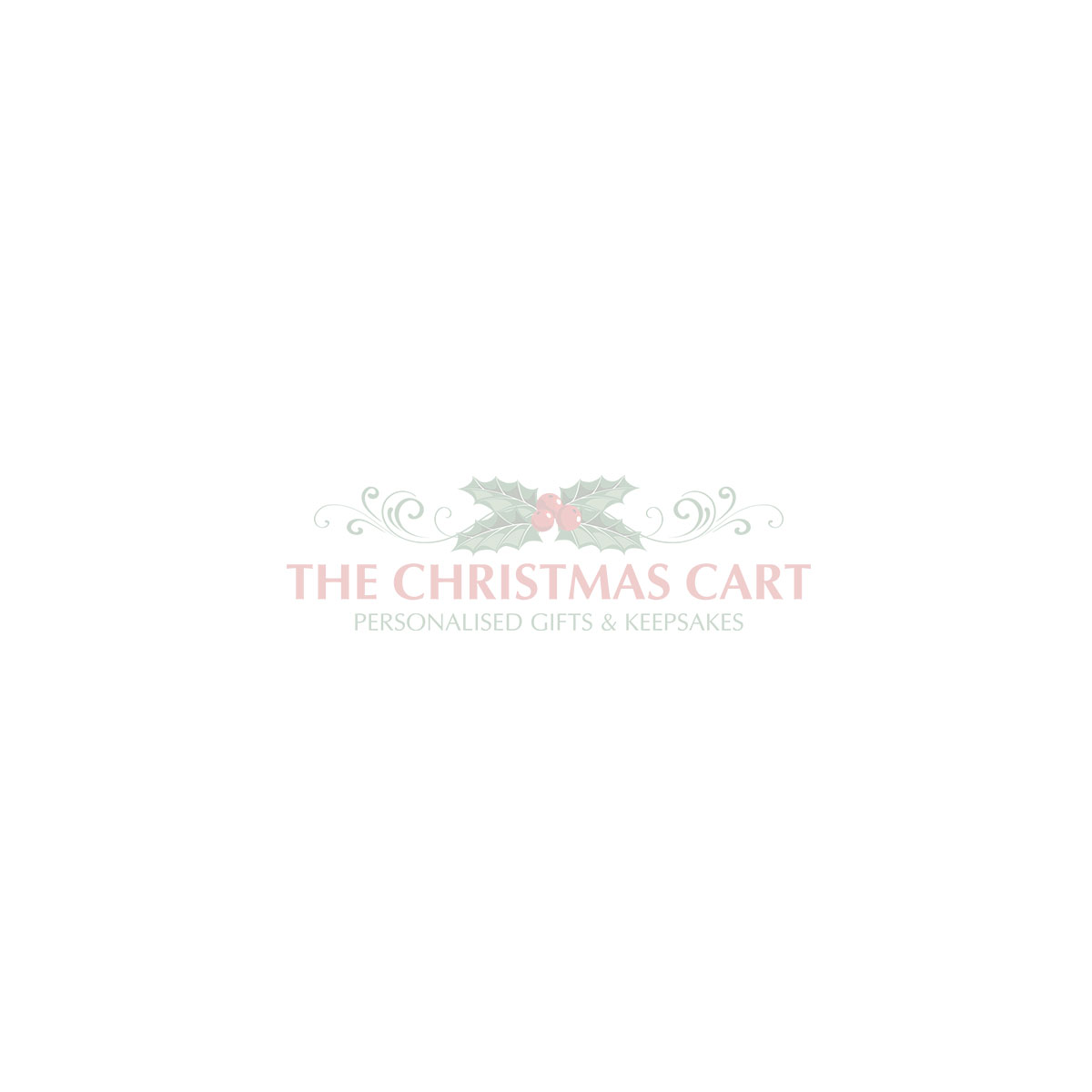 Personalised Country Christmas Wood Plaque With Red Berry - Version 2
