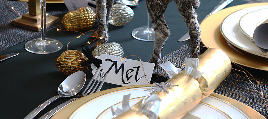 mixed metals christmas table