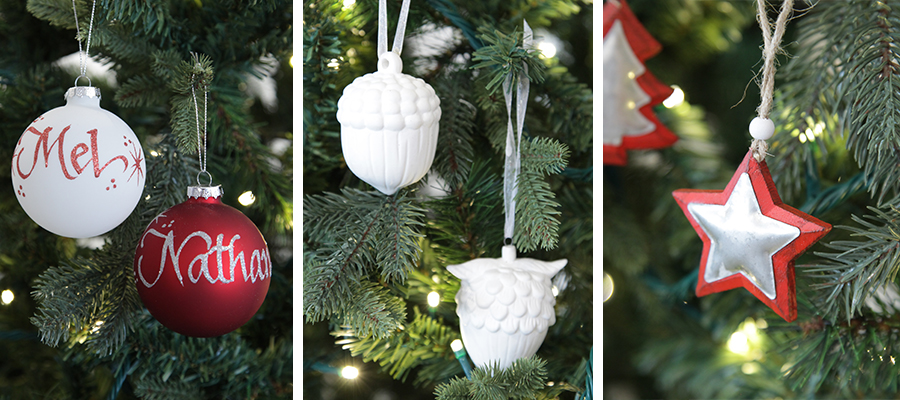 nordic christmas banner tree decoration