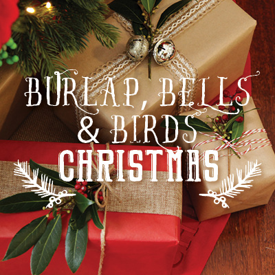 Burlap Bells and Birds