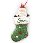 Christmas Santa Stocking Ornament