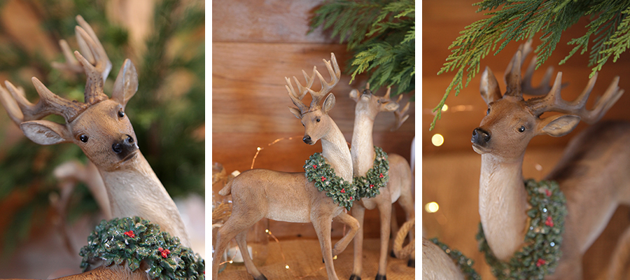 woodlands christmas banner deer